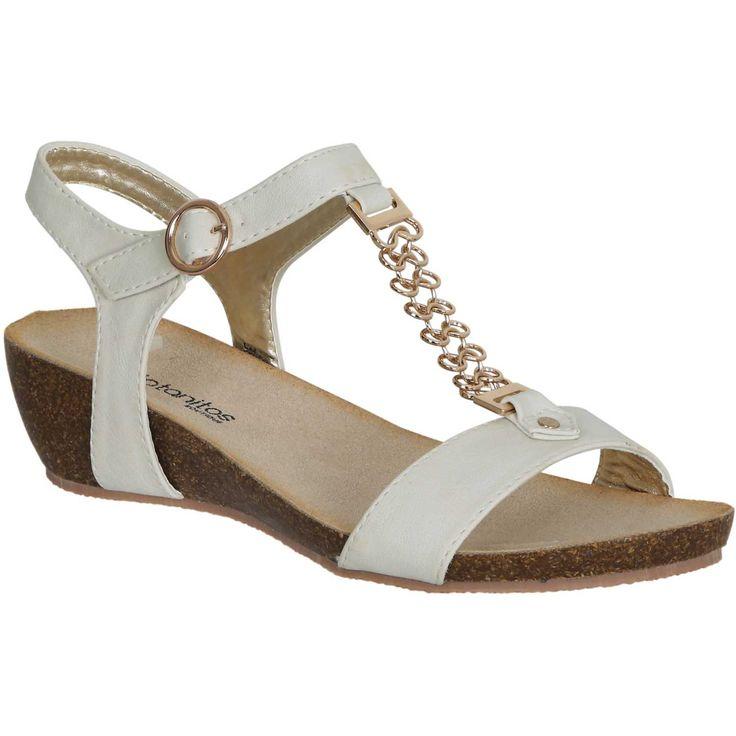 Sandalia de Mujer Platanitos s 92323 Beige | platanitos.com
