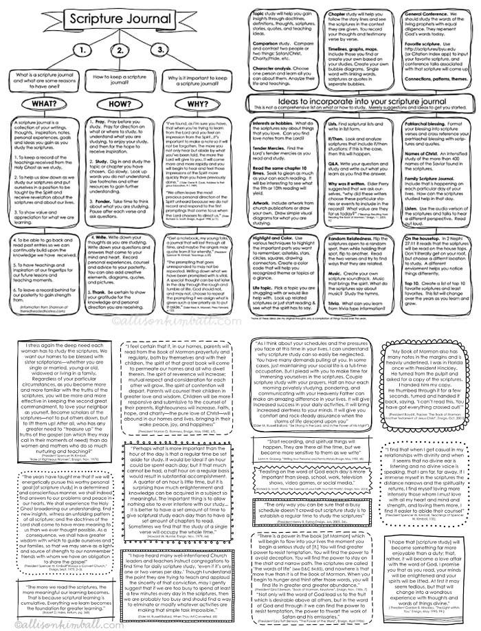 Free Scripture Jourrnal Printables from Allison Kimball