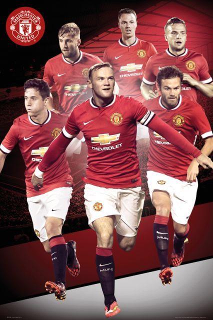 Manchester United Zawodnicy 14/15 - plakat - 61x91,5 cm  Gdzie kupić? www.eplakaty.pl