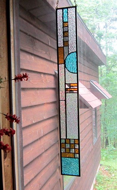 Elegant Stained Glass Panel suncatcher window                                                                                                                                                                                 More