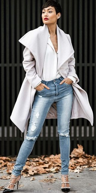 Grey Stylish Coat by Micah Gianneli