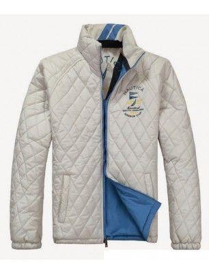 Nautica chaqueta de hombre guateada reversible | blanca