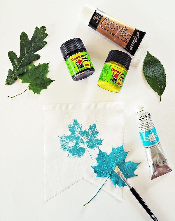 DIY Anleitung: herbstliche Wimpelkette selbermachen // home diy for autumn: how to craft a pennant chain via DaWanda.com