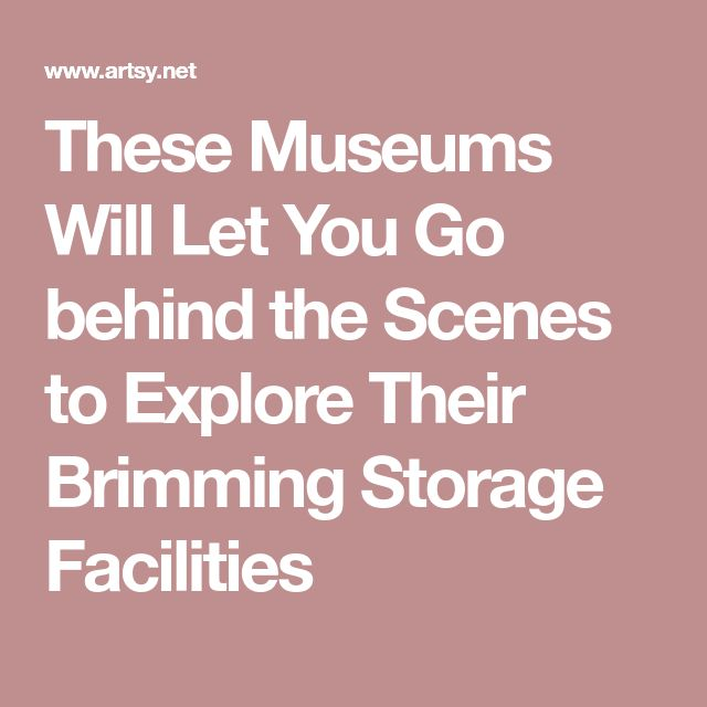 These Museums Will Let You Go behind the Scenes to Explore Their Brimming Storage Facilities