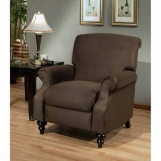 498 81 living cr microsuede pushback brown priced pushback recliner