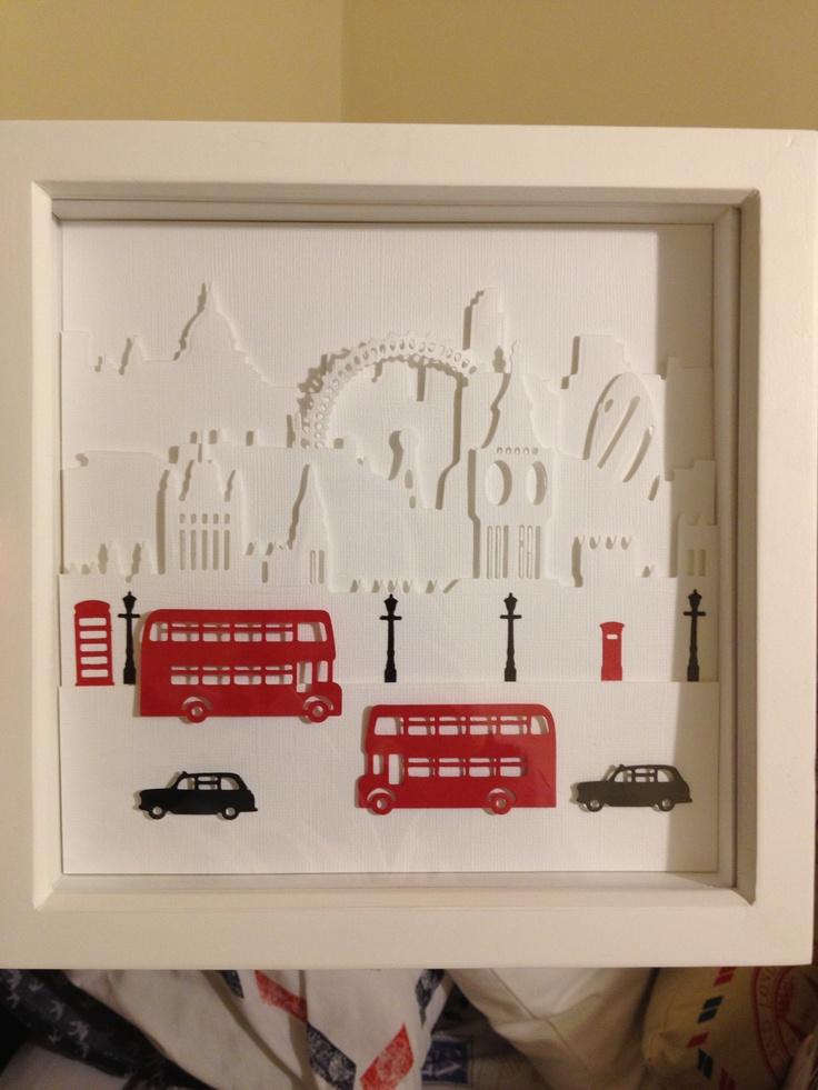 Build-a-scene London Skyline by X cut