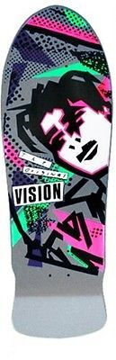 Vision Mark Gonzales Grey Re-Issue Old School Skateboard Deck