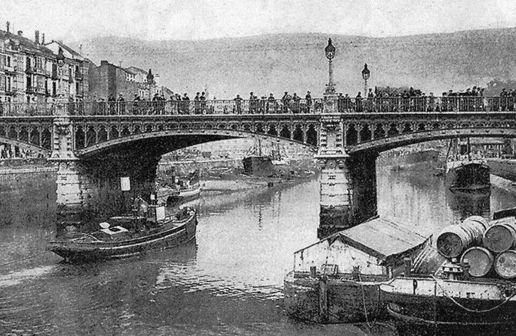 Puente de Isabel II, 1916.