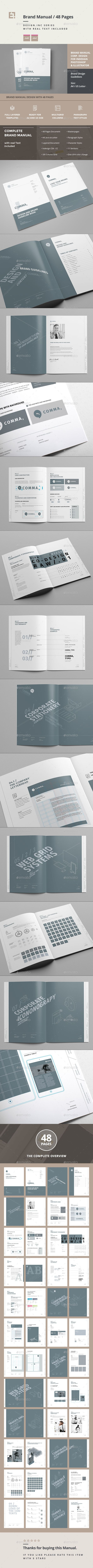 Brand Manual Template InDesign INDD. Download here: http://graphicriver.net/item/brand-manual-/15210965?ref=ksioks