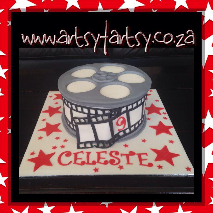 Film Reel Cake #filmreel #movies