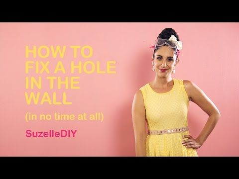 SuzelleDIY - How to Fix a Hole in the Wall - YouTube