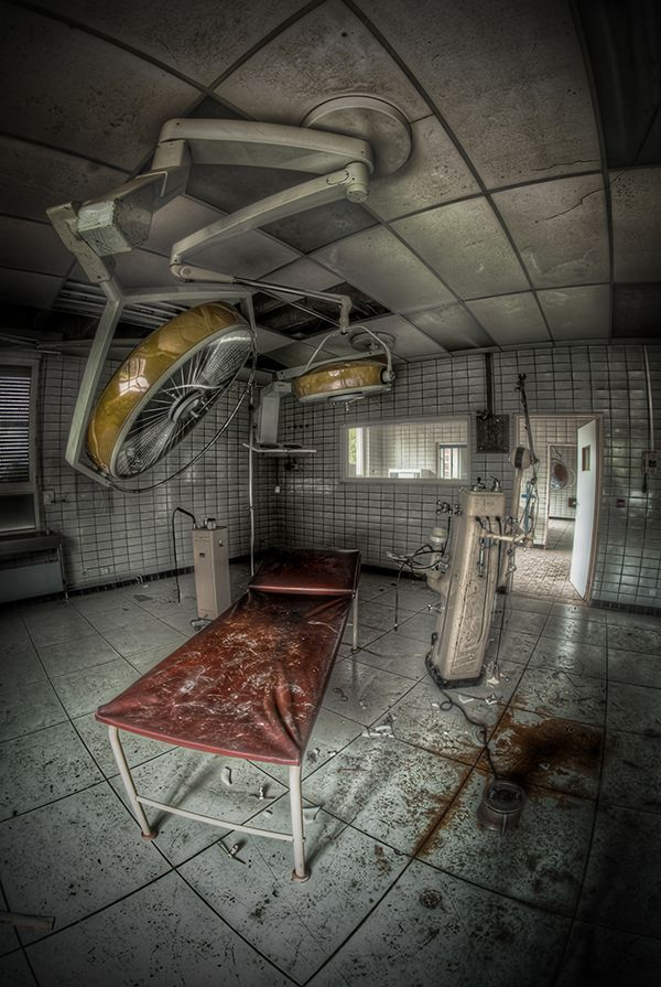 Abandoned surgery room