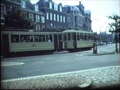 Trams in Den Haag,Nederland. in the 1980's.(HTM open dag 1986.).wmv