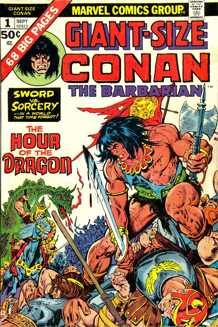 Giant Size Conan the Barbarian #1, September 1974, cover by Gil Kane, John Romita, and Ernie Chan