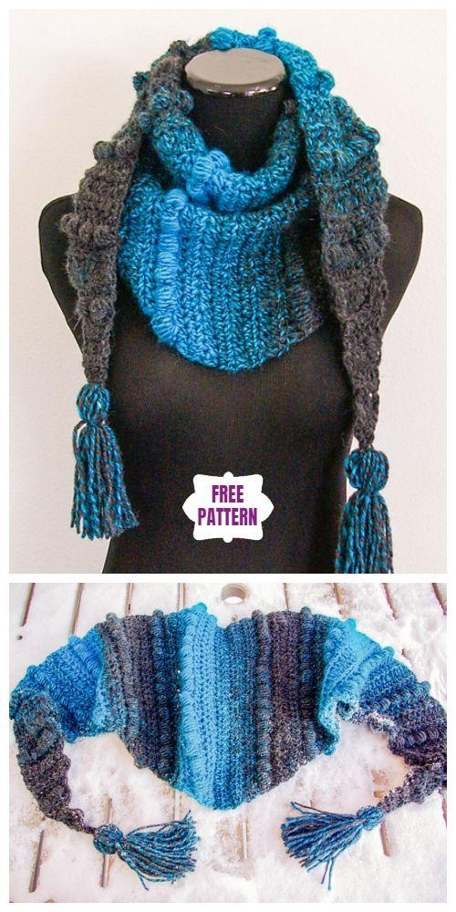 Crochet Puff Stitch Scarf Free Crochet Patterns