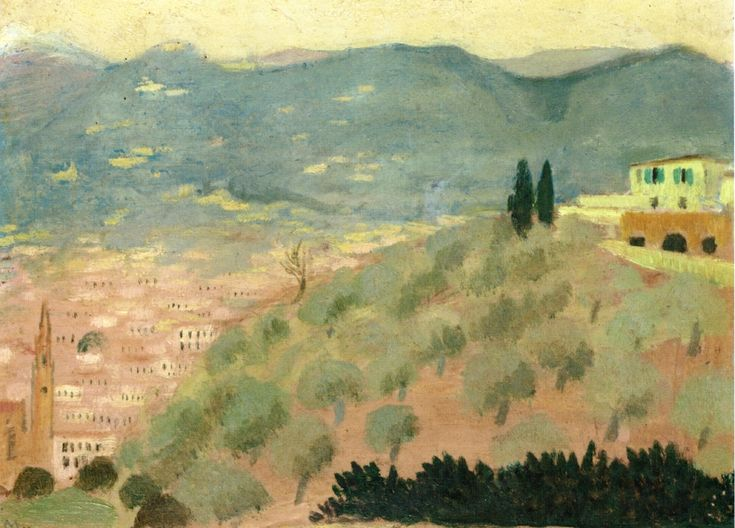 "Maurice Denis:  ""Forentice Landscape, Viale dei Colli"""