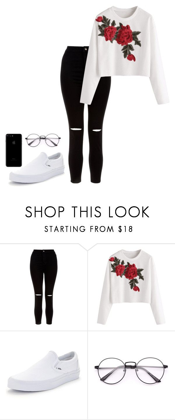 """""""Untitled #12"""" by hannahdowns14 on Polyvore featuring New Look and Vans"""