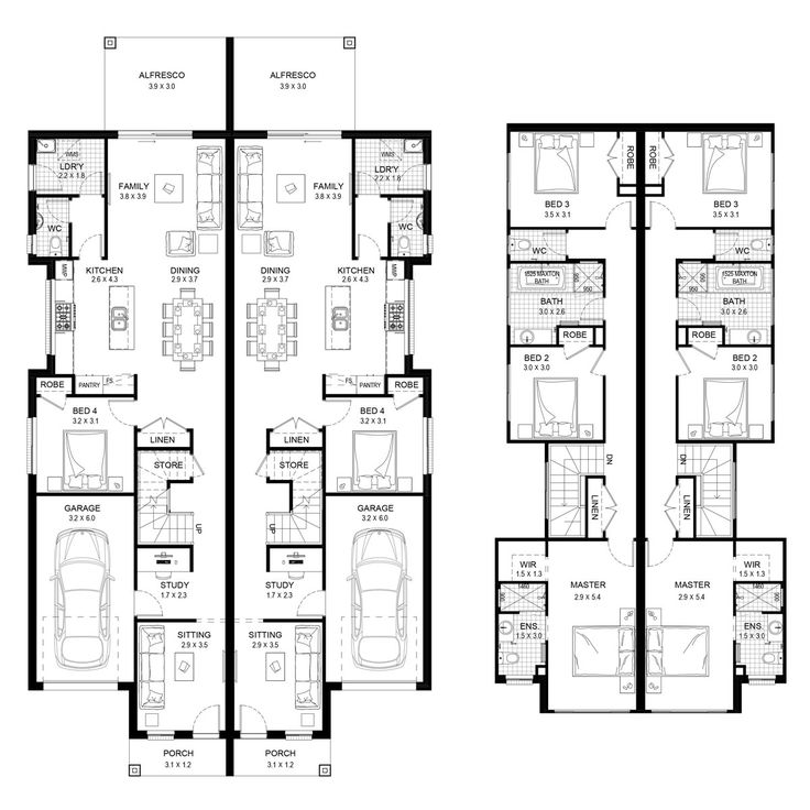 Castlereagh 46 - Duplex Level - Floorplan by Kurmond Homes - New Home Builders Sydney NSW