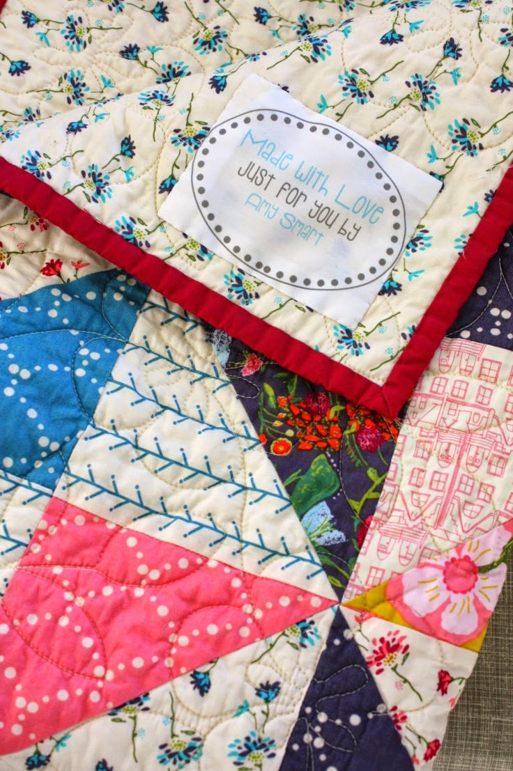 Pre-printed customized quilt labels! I'm in love.