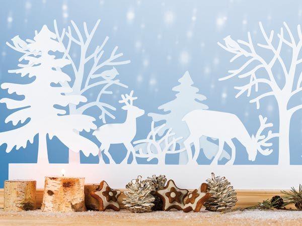 Vorlage Fensterbild Winterlandschaft