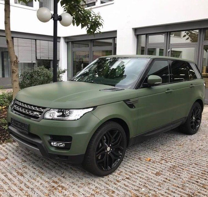 Matte military green Range Rover