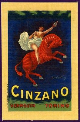 L. Cappiello, Cinzano Vermouth, 1910