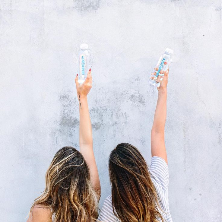 These two bottles of #GenerosityWater just provided clean water for four people for one month! #Generosity