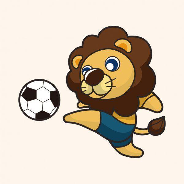 Animals Play Football Cartoon Theme Elements Stock Vector Sponsored Football Cartoon Animals Play Ad