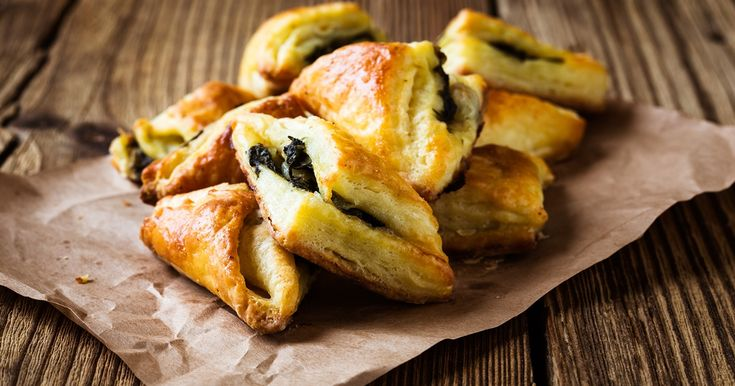 spinach and feta triangles | OverSixty