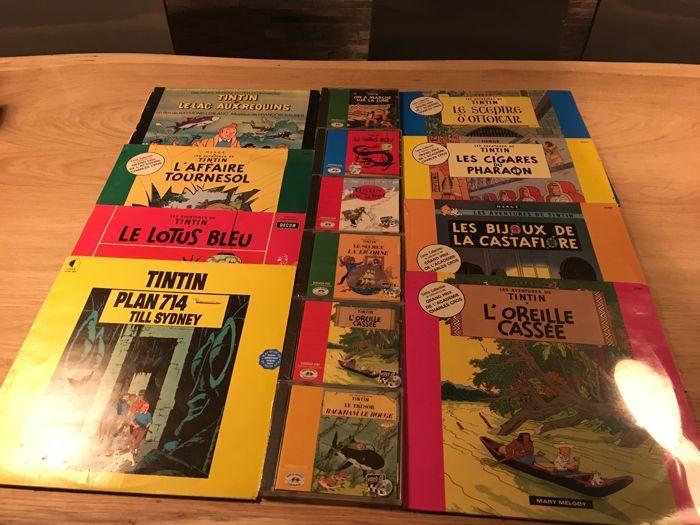 Kuifje - 7 x Franse vinyl records - LP 33t  8 x video CD - Les Aventures de Tintin - (1957-1991)  EUR 50.00  Meer informatie