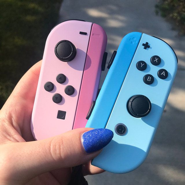 Custom Pastel Pink And Blue Nintendo Switch Joy Con Joycon Controllers In 2020 Nintendo Switch Case Nintendo Switch Accessories Nintendo Switch