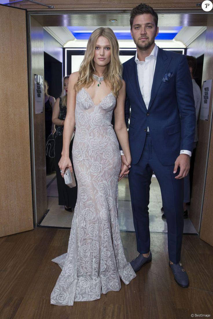 """Toni Garrn et son compagnon Chandler Parsons - Soirée L'Oréal Paris """"Blue Obsession"""" à l'hôtel Martinez. Cannes, le 18 mai 2016 © Borde-Moreau / Bestimage"""