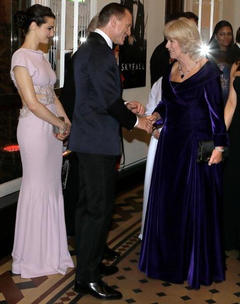 Camilla meeting Daniel Craig at the premiere of Skyfall 23 Oct 2012