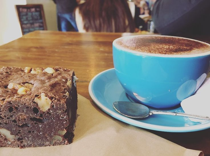 Brownie and hot chocolate