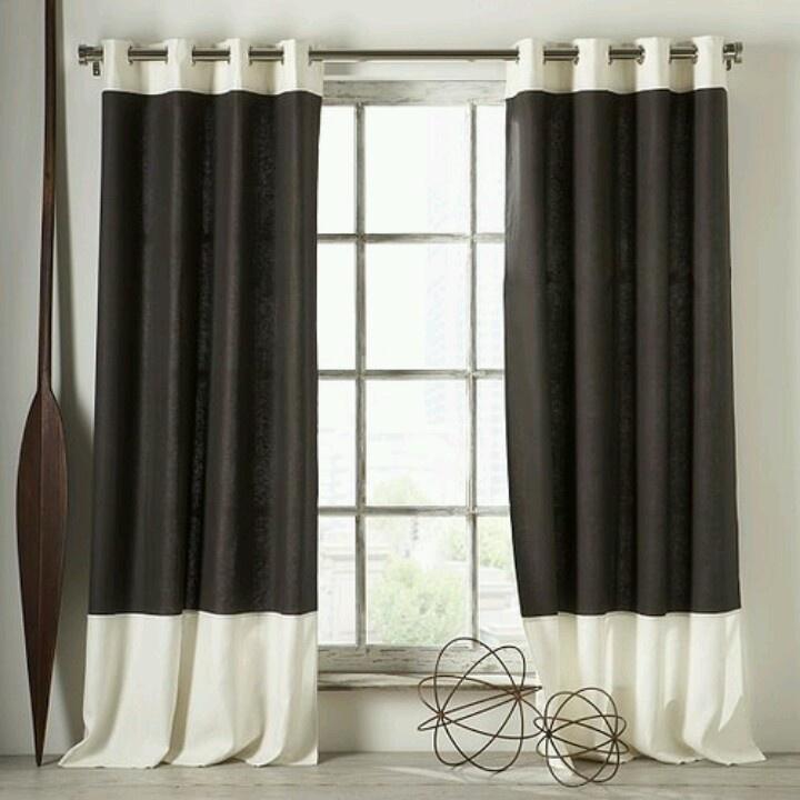 color block curtains modern canada diy gray