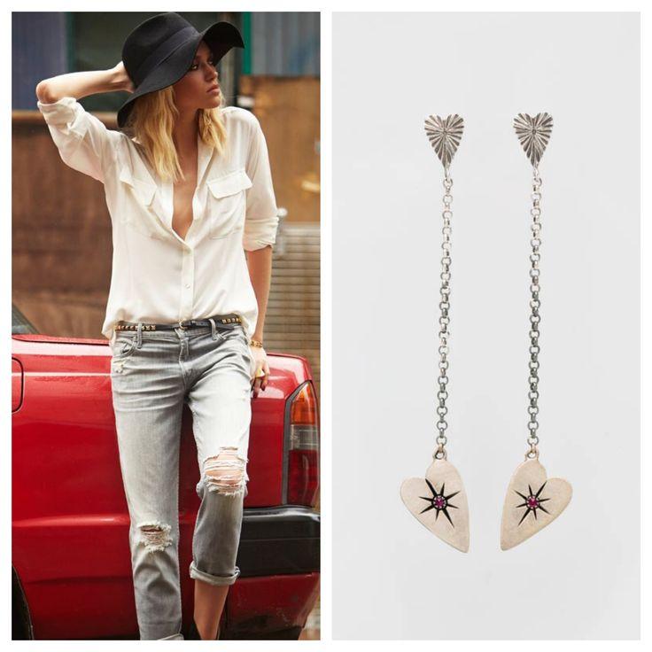Inspiration! #heart #earrings #silver #ruby