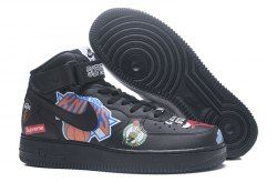 4d1979163ade Reliable Supreme x NBA x Nike Air Force 1 AF1 Black AQ8017 001 Women s Men s  Casual Shoes Sneakers