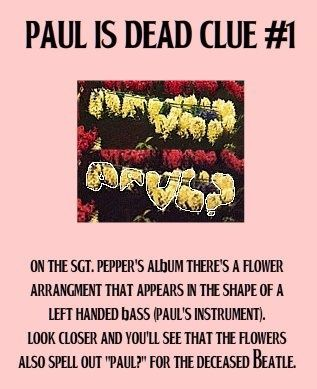 Paul is dead clue #1.