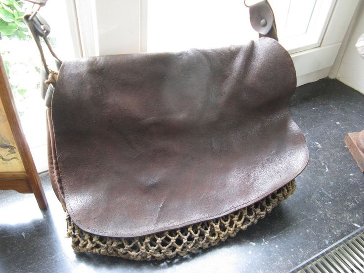 Beautiful antique leather Hunting bag from France around 1920 ... #HuntingBag