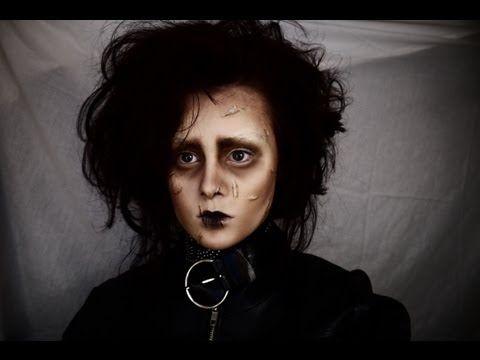 Edward Scissorhands make up tutorial #halloweenmakeup #halloween