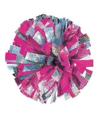 Chassé 2-Color Mixed Holographic Cheerleading Pom Poms