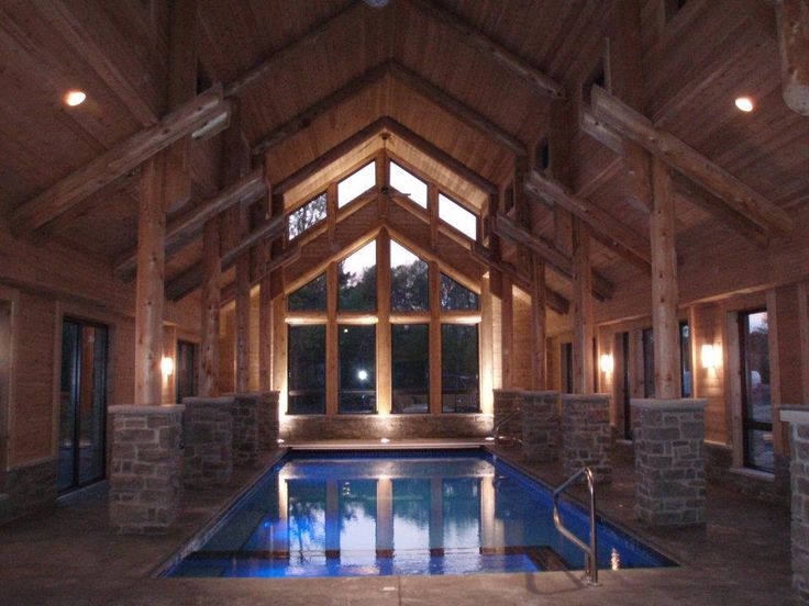 Log Home Indoor Swimming Pool By Wisconsin Log Homes Http