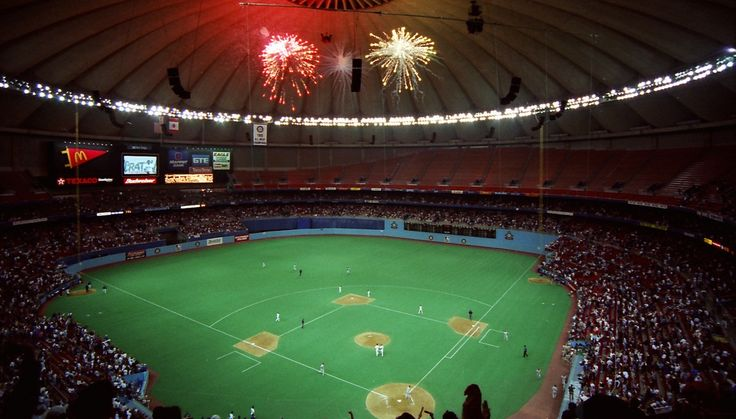 View from the upper deck at the Kingdome, former home of the Seattle Mariners