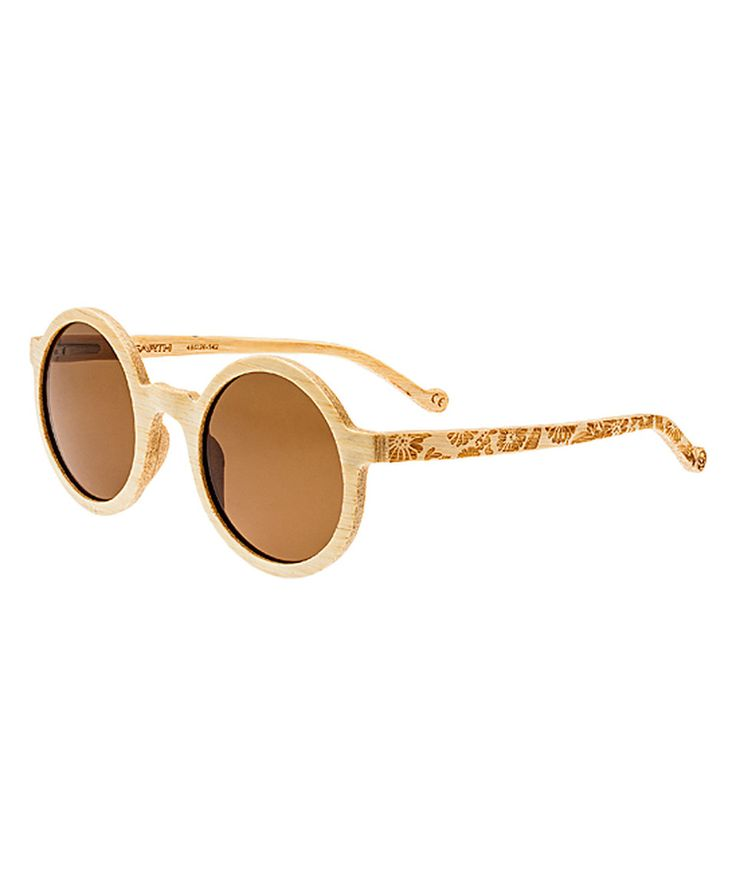 This Bamboo Canary Wood Sunglasses by EARTH wood watches is perfect! #zulilyfinds