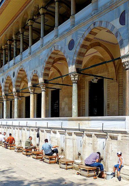 Süleymaniye Mosque - Preparation for Prayer - Istanbul, Turket