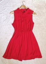 Śliczna czerwona sukienka h&m 34 TANIO!