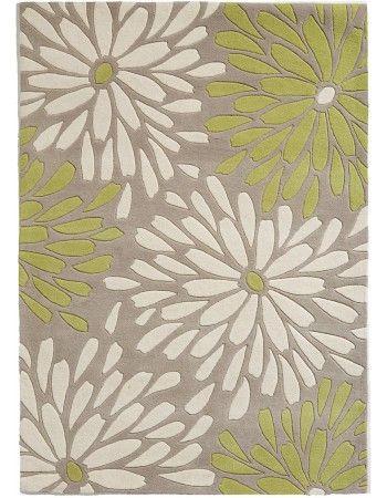 Lollini - grey-lime green rug