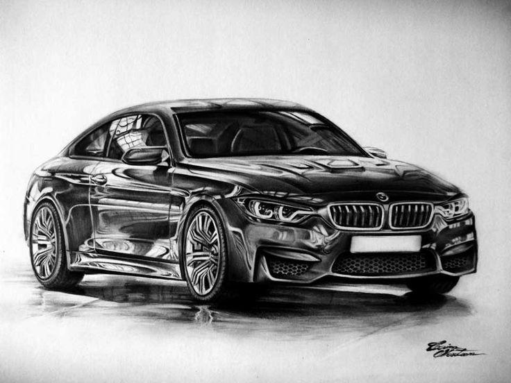 BMW M4 - Desen în Creion de Corina Olosutean // BMW M4 - Pencil Drawing by Corina Olosutean