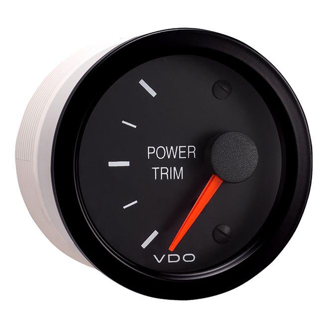 VDO Vision Black Trim Gauge - For Use w/Mercury/Volvo/Yamaha 2001+ Engines - 12V [382-152]