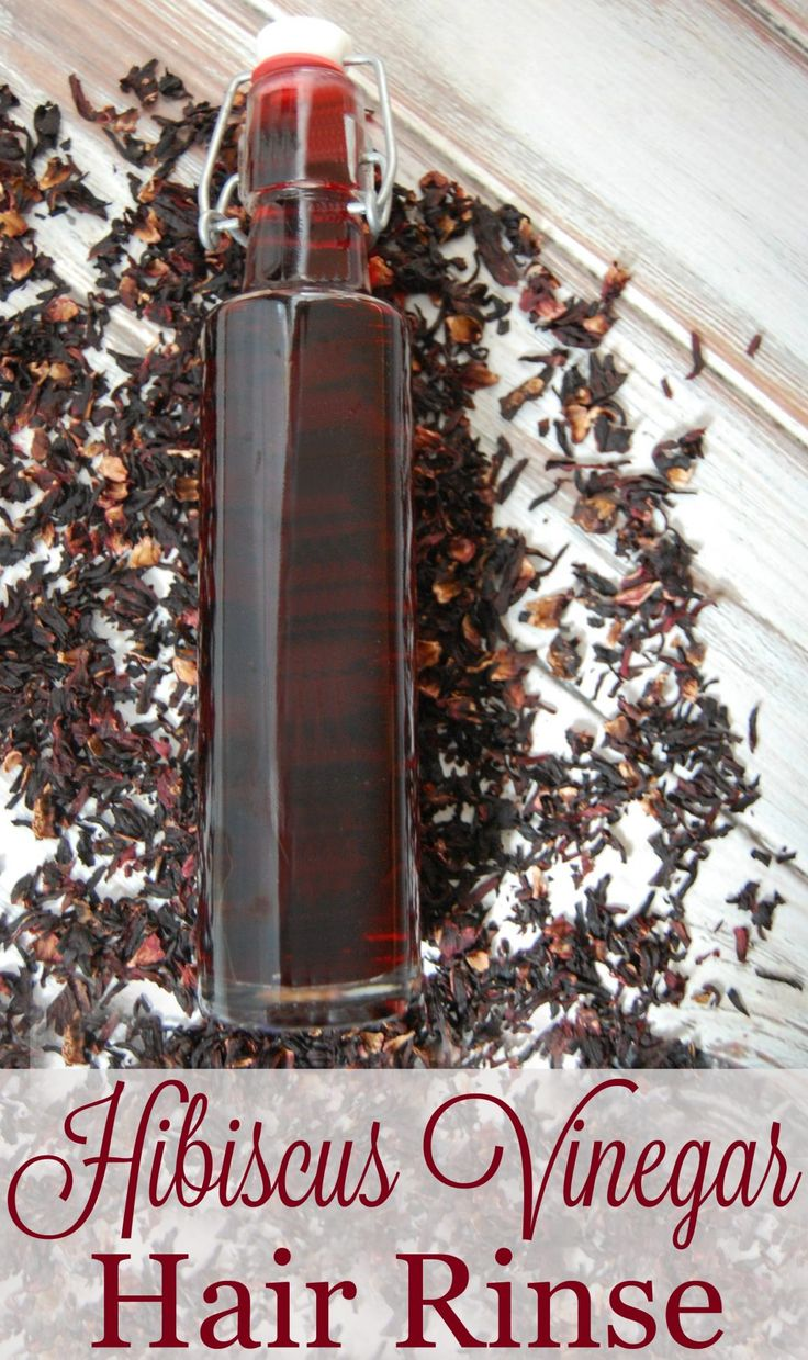 Hibiscus Vinegar Hair Rinse- Hibiscus has been said to help prevent premature graying, encourages hair growth, conditions hair making is more smooth and shiny, and gives your hair bounce!